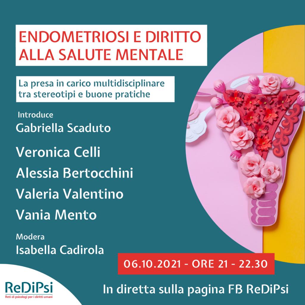 Foto di una vagina composta da fiori. Copertina dell'evento Endometriosi e diritto alla salute mentale